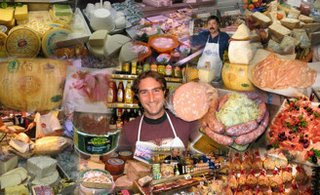 Italian Deli shop collage