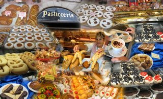Italian pastries collage