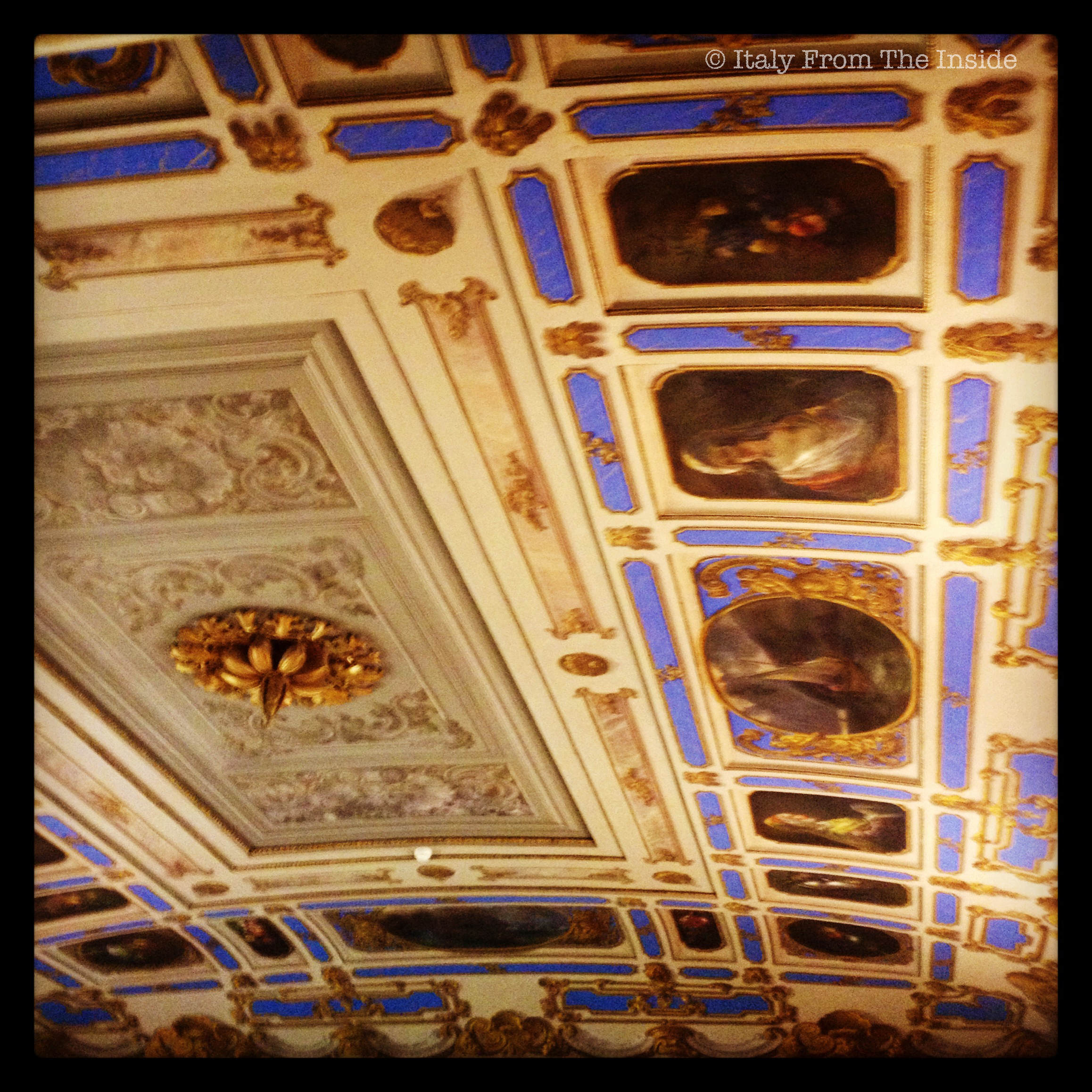 Studying under a frescoed ceiling