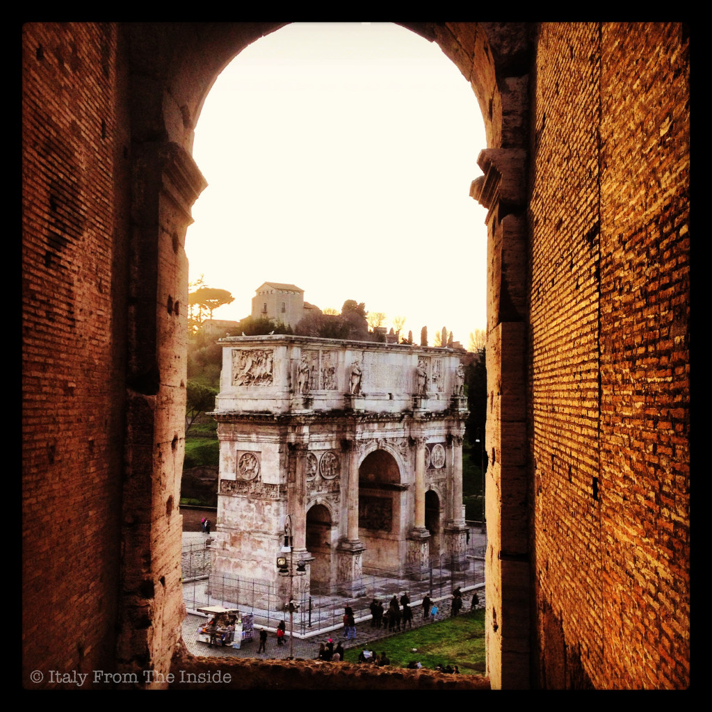 View from the Colosseum- Italy from the Inside