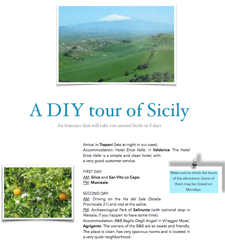 8 day tour of Sicily- Italy From The Inside