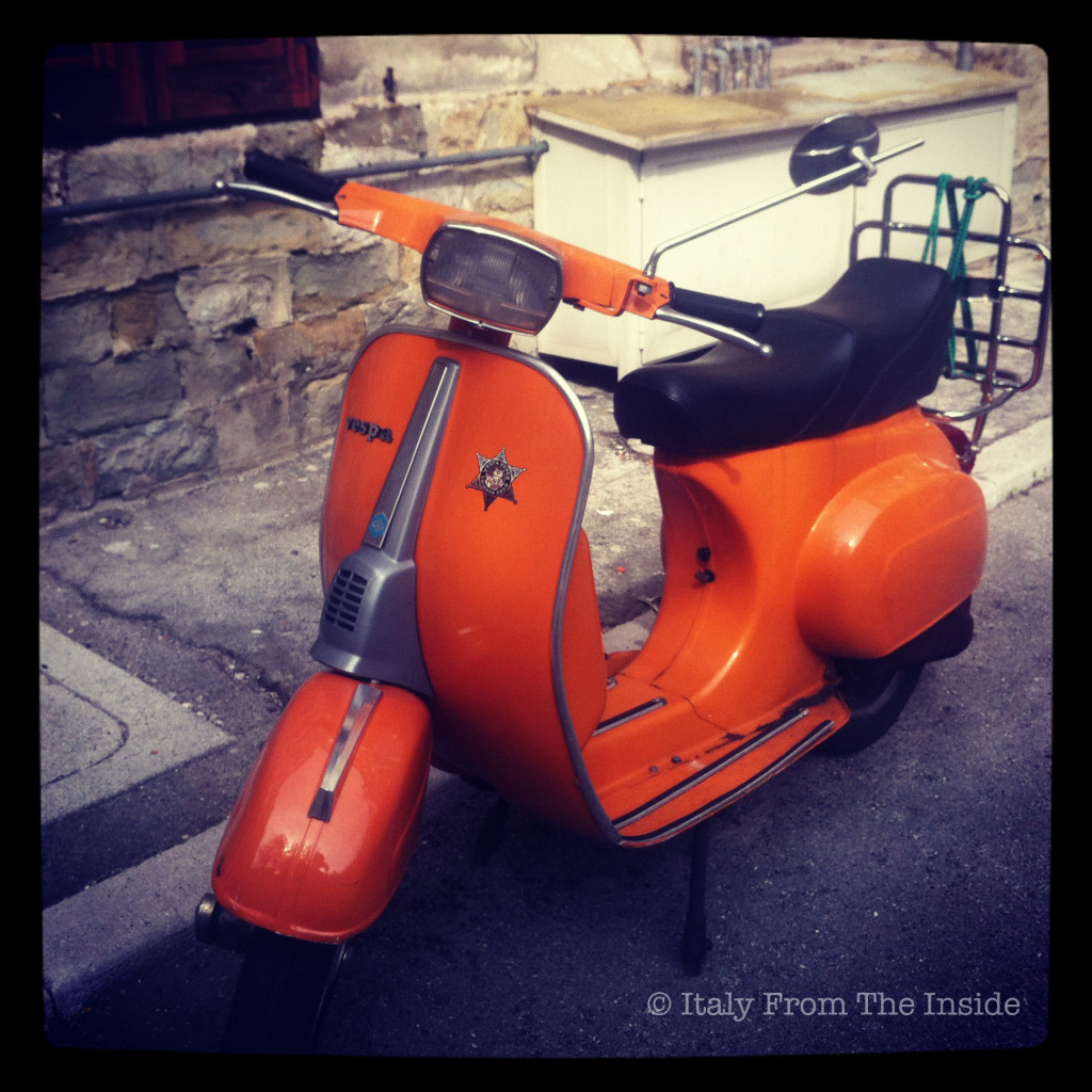 Orange Vespa- Italy from the Inside