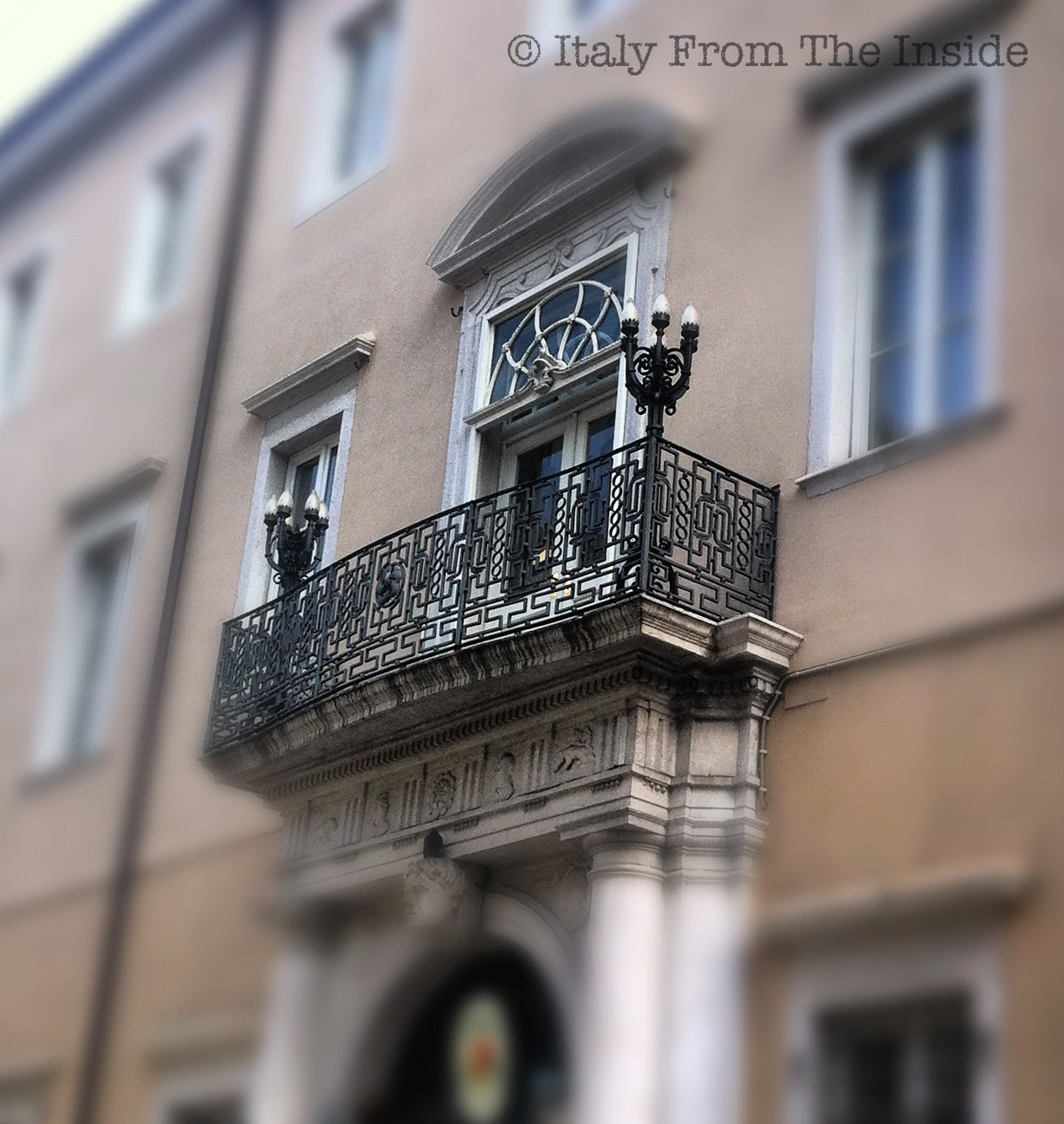 Wrought iron balcony- Italy from the Inside